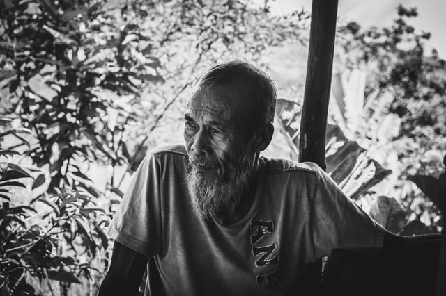 Resilience - picture of an old man depicting resilience and hard work